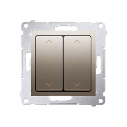 Łącznik żaluzjowy podwójny trójpozycyjny (1-0-2) złoty mat, metalizowany 10A-252606
