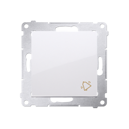 """Przycisk """"dzwonek"""" (moduł) 10AX 250V, szybkozłącza, biały-252166"""