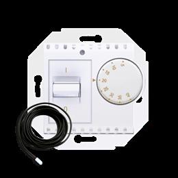 Regulator temperatury z czujnikiem zewnętrznym biały-252771