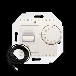 Regulator temperatury z czujnikiem zewnętrznym kremowy-252772