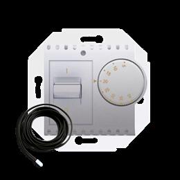 Regulator temperatury z czujnikiem zewnętrznym srebrny mat, metalizowany-252773