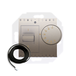 Regulator temperatury z czujnikiem zewnętrznym złoty mat, metalizowany-252774
