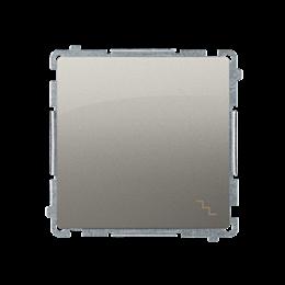 Łącznik schodowy (moduł) 16AX 250V, zaciski śrubowe, satynowy, metalizowany-253474