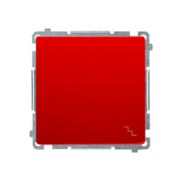 Łącznik schodowy (moduł) 10AX 250V, szybkozłącza, czerwony-253467