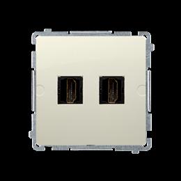 Gniazdo HDMI podwójne beżowy-254045