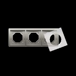 Ramka 3- krotna IP44 satynowy, metalizowany-253362