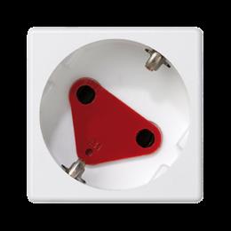 Gniazdo wtyczkowe pojedyncze K45 DATA SCHUKO 16A 250V szybkozłącza 45×45mm czysta biel-256311