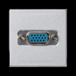 Płytka K45 złącze VGA (D-SUB 15) 45×45mm aluminium-256495