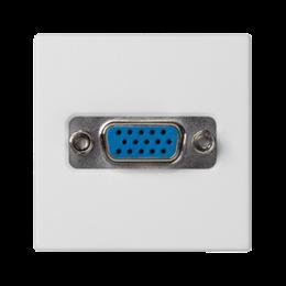 Płytka K45 złącze VGA (D-SUB 15) 45×45mm czysta biel-256493