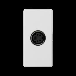 Płytka K45 złącze S-VIDEO 45×22,5mm czysta biel-256514