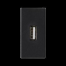 Płytka K45 złącze USB typ A 45×22,5mm szary grafit-256497