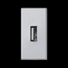 Płytka K45 złącze USB typ A 45×22,5mm aluminium-256498