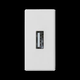 Płytka K45 złącze USB typ A 45×22,5mm czysta biel-256496