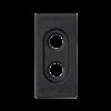 Płytka K45 pusta do złącz 2× RCA (CINCH) 45×22,5mm szary grafit-256526