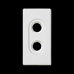 Płytka K45 pusta do złącz 2× RCA (CINCH) 45×22,5mm czysta biel-256525