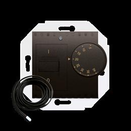 Regulator temperatury z czujnikiem zewnętrznym brąz mat, metalizowany-252776