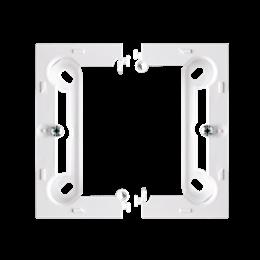 Puszka natynkowa pojedyncza składana biały-253372