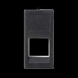 Plakietka teleinformatyczna K45 3M Volition OCK pojedyncza bez osłon płaska 45×22,5mm szary grafit-256345