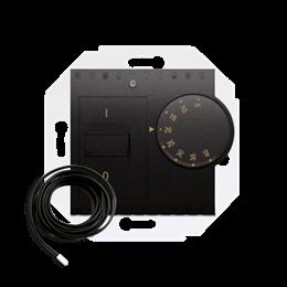 Regulator temperatury z czujnikiem zewnętrznym antracyt, metalizowany-252775