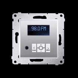 Radio cyfrowe z wyświetlaczem srebrny mat, metalizowany-252779