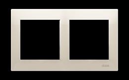 Ramka 2- krotna kremowy-251590
