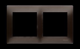 Ramka 2- krotna brąz mat, metalizowany-251593