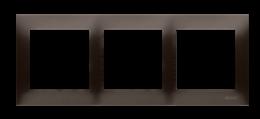 Ramka 3- krotna brąz mat, metalizowany-251612