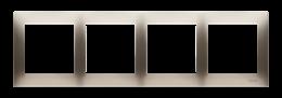 Ramka 4- krotna złoty mat, metalizowany-251630