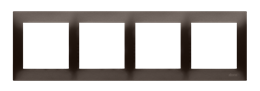 Ramka 4- krotna brąz mat, metalizowany-251631
