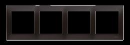 Ramka 4- krotna antracyt, metalizowany-251632