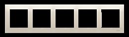 Ramka 5- krotna kremowy-251647