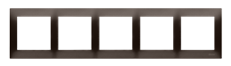Ramka 5- krotna brąz mat, metalizowany-251650
