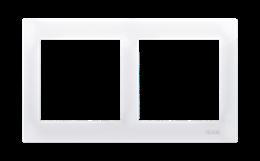 Ramka 2- krotna do puszek karton-gips biały-251600