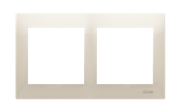 Ramka 2- krotna do puszek karton-gips kremowy-251602