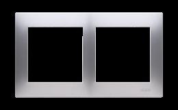 Ramka 2- krotna do puszek karton-gips srebrny mat, metalizowany-251603