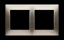 Ramka 2- krotna do puszek karton-gips złoty mat, metalizowany-251604