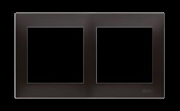 Ramka 2- krotna do puszek karton-gips antracyt, metalizowany-251606