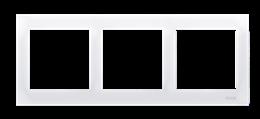 Ramka 3- krotna do puszek karton-gips biały-251619