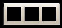 Ramka 3- krotna do puszek karton-gips kremowy-251621