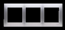 Ramka 3- krotna do puszek karton-gips srebrny mat, metalizowany-251622