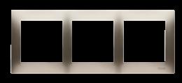 Ramka 3- krotna do puszek karton-gips złoty mat, metalizowany-251623
