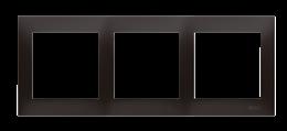 Ramka 3- krotna do puszek karton-gips antracyt, metalizowany-251625