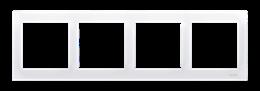 Ramka 4- krotna do puszek karton-gips biały-251638