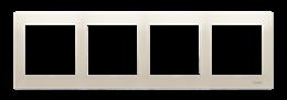 Ramka 4- krotna do puszek karton-gips kremowy-251640