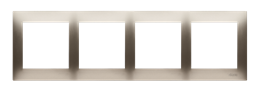 Ramka 4- krotna do puszek karton-gips złoty mat, metalizowany-251642