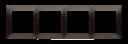 Ramka 4- krotna do puszek karton-gips brąz mat, metalizowany-251643
