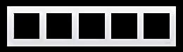 Ramka 5- krotna do puszek karton-gips biały-251652
