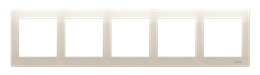 Ramka 5- krotna do puszek karton-gips kremowy-251654