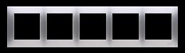 Ramka 5- krotna do puszek karton-gips srebrny mat, metalizowany-251655