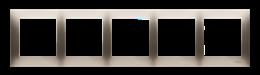 Ramka 5- krotna do puszek karton-gips złoty mat, metalizowany-251656